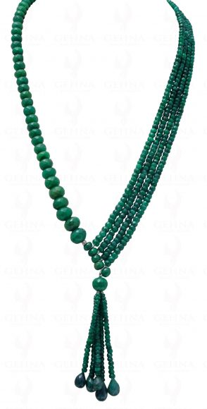 Emerald Shaded Gemstone Faceted Bead Necklace Np1260 Fine Jewelry Sets