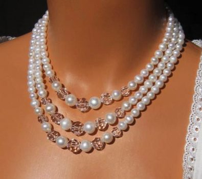 Pearls & Gemstone Beads Necklace